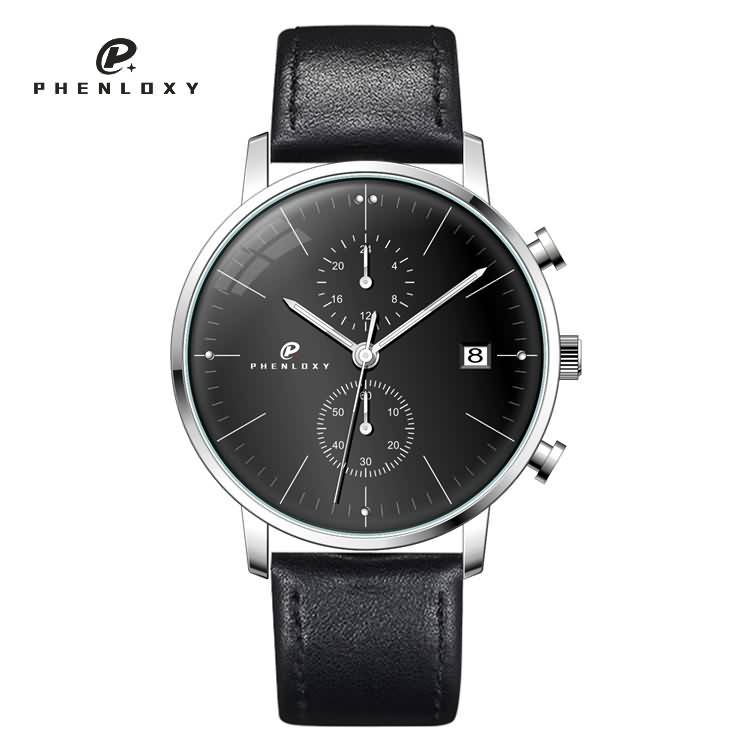 China watch factory men custom stainless steel domed glass chronograph quartz wristwatches