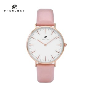 Customize genuine leather strap classic OEM wrist watch for girl