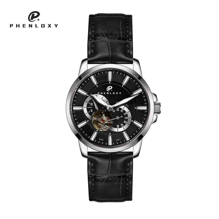 Custom logo waterproof Japan 82S7 skeleton automatic mechanical movement business wristwatch for men